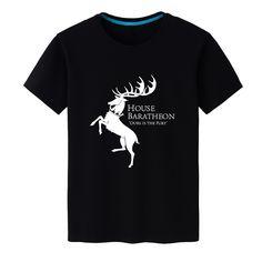 2017 New Summer Unisex Game of Thrones House Baratheon Casual Top Tees Modal Black T-shirt Short-sleeved Shirt - Direwolf Shop Direwolf Shop Apparel Company, Clothing Company, Casual Tops, Bridesmaid Dresses, Mens Tops, T Shirt, Shopping, Black, Fashion