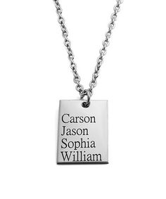 Look what I found on #zulily! Stainless Steel Personalized Rectangle Pendant Necklace #zulilyfinds