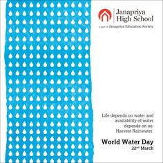 Save Water To Secure Your Future. World Water Day.