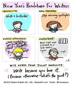 New Year's Comic for Writers - Writers Write