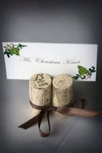 ideas for wine themed weddings. Like this w/ribbon tied around corks