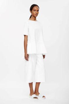 Split-hem cotton top