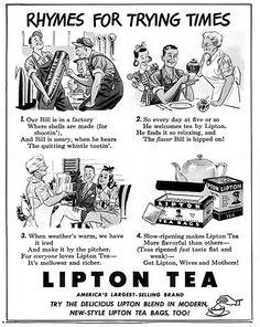 U.S.: Lipton Tea, 1942