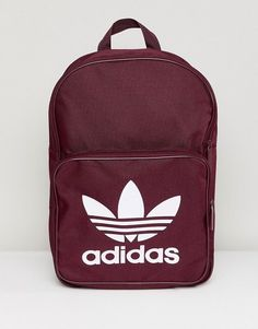 adidas Originals Classic Backpack In Burgundy 5f1c3b1416c31