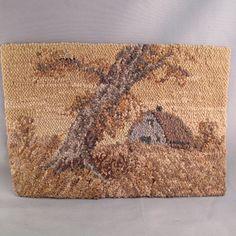 rug hooked PICTURE. ART. needlework. rug hooking. by PartsForYou, $65.09