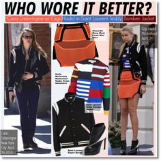 Who Wore It Better?Cara Delevingne or Gigi Hadid in Saint Laurent Teddy Bomber Jacket