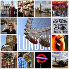 London, England, UK. Photo tiles mosaic. ANIA W PODRÓŻY travel blog and photography