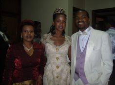 (L-R) Queen Best Kemigisa with her daughter Princess Ruth Komuntale and her husband Christopher Thomas
