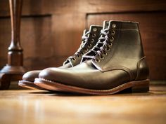 Oak Street Bootmakers Brown Chromexcel Trench Boot, via OSB