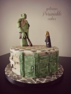 Harry Potter cake! Hermione facing off with a troll