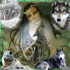 """""""Lanzame a los lobos y me veras liderando los lobos"""" Wolves & Girl"""