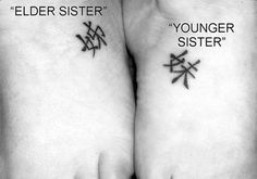 Chinese Sisterly Bond Is there a symbol for middle sister?