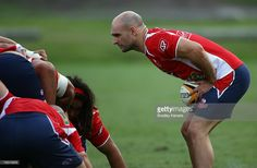 Sam Cordingley of the Reds feeds the scrum during the Queensland Reds Super 14 training session at Ballymore on January 2007 in Brisbane, Australia. Brisbane Australia, Tasmania, January, Training, Stock Photos, Red, Pictures, Photos, Photo Illustration