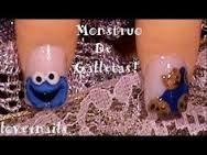 Resultado de imagen para uñas cortas decoradas con el monstruo come galletas