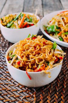 Vegetable Ramen is a simple & easy-to-make meatless Monday meal all instant ramen lovers must try. For you carnivores, just add meat to this vegetable ramen! Ramen Recipes, Asian Recipes, Vegetarian Recipes, Cooking Recipes, Healthy Recipes, Ethnic Recipes, Asian Foods, Veggie Recipes, Yummy Recipes