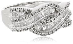 10k White Gold Diamond Twist Ring (1/2 cttw, I-J Color, I2-I3 Clarity), Size 7 Amazon Curated Collection http://www.amazon.com/gp/product/B002OHE0RQ?ie=UTF8=B002OHE0RQ=xm2=eabibu-20