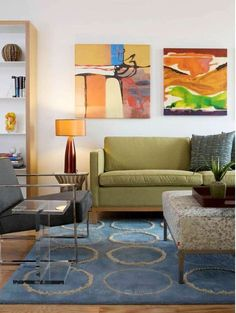 So many people feel shy about having large and bold paintings or sculpture in the home and are often constrained by worrying about how it will look.
