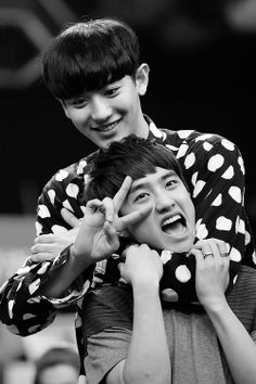 these babos :P #chanyeol #d.o #exowtf chanyeol is being evil and do isn't what?