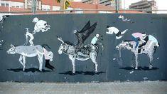 San + Escif + Hyuro, Spain. Street art 000