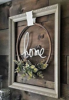 hang an empty frame with embroidery hoop stained and greener.- hang an empty frame with embroidery hoop stained and greenery hang an empty frame with embroidery hoop stained and greenery - Decor, Wall Decor, Farmhouse Decor, Farmhouse Diy, Wreaths, Rustic Decor, Home Decor, Diy Farmhouse Decor, Picture Frame Crafts