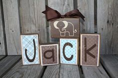 Personalised Wood Block Set