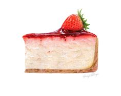 Strawberry Cheesecake, 9x12, mixed media on paper  Kendyll Hillegas