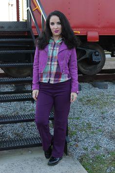 Libertad Green: Purple Plaid