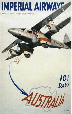 Other historic posters from Imperial Airways - the predecessor of British Airways