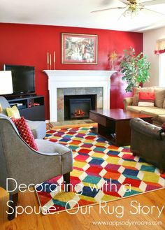 Check out these tips on how to decorate with a spouse with different taste. It can be done! | www.rappsodyinrooms.com