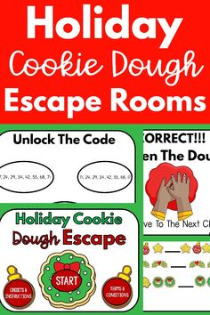 Work on dough skills with this fun holiday escape room! This is a great fine motor activity! So fun and engaging. This is great for distance learning and in person learning. Your kids will LOVE this. This is great for the classroom or occupational therapy.