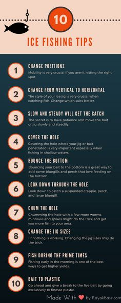 Best Ice Fishing Tips infographic #icefishing #fishing #infographie