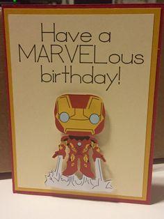 Items similar to Disney Marvel Iron Man homemade birthday card on Etsy Happy Birthday Disney, Birthday Puns, Happy Birthday Greetings Friends, 50th Birthday Quotes, Bff Birthday Gift, Homemade Birthday Cards, Marvel Cards, Marvel Gifts, Bday Cards