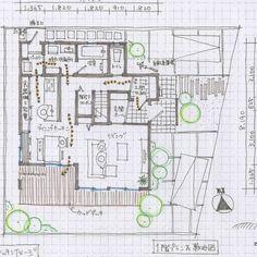 mioさんはInstagramを利用しています:「1階53.41㎡ 2階52.79㎡ 延床106.20㎡(約32坪) #マドリー #マドリスト」 Small House Design, House Plans, Floor Plans, How To Plan, Architecture, Bungalows, Home Decor, Animal, Videos