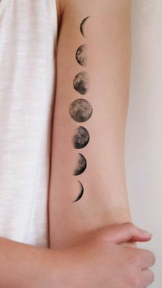 Here are the top 9 best designs and ideas of space tattoos for men and women. Having a space tattoo design can be cool as you have so many options to have. Small Girl Tattoos, Cute Small Tattoos, Tattoo Girls, Trendy Tattoos, Small Moon Tattoos, Cute Tattoos On Thigh, Outer Space Tattoos, Dream Tattoos, Body Art Tattoos