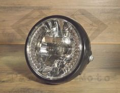 "7"" Motorcycle Headlight with Amber LED Turn Signals"