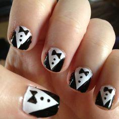 Tuxedo nails!