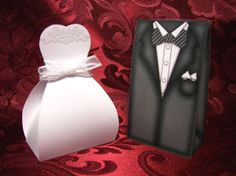 Bridal Gown Box Wedding Reception Party Favor boxes. my-perfect-wedding