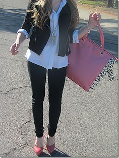 Love this look - Very trendy, but still loose and comfy. {Besides the shoes, lol}