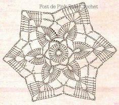 crochet patterns of Doilies, Tablecloths, Pillows, Coasters Free Crochet Doily Patterns, Crochet Snowflake Pattern, Crochet Stars, Crochet Snowflakes, Crochet Flower Patterns, Crochet Designs, Crochet Stitches, Free Pattern, Crochet Dreamcatcher
