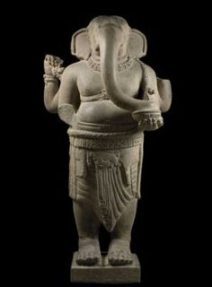 Lent by Museum of Cham Sculpture, Da Nang, Vietnam. Photo: Thierry Ollivier on Apollo Magazine Asian Sculptures, Ganesha Art, Shri Ganesh, Hindu Deities, Stone Sculpture, Hindu Art, Indian Gods, Da Nang, West Africa