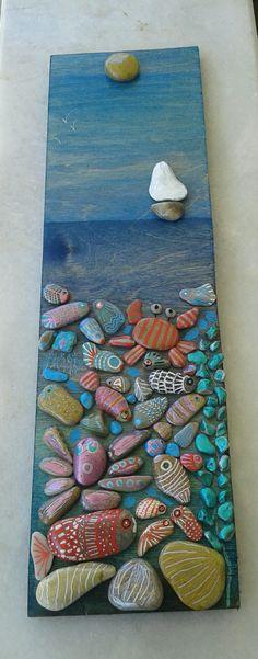 Sea life Painted stones art @alice.in.wondercraft  instagram