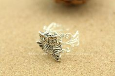 Hey, I found this really awesome Etsy listing at http://www.etsy.com/listing/127381733/silver-animal-owl-adjustable-ring