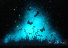 NOCTURNE  Glow in the Dark Star Poster  Glowing by StellaMurals