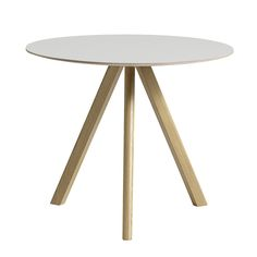 HAY Copenhague Round Table - Linoleum Off-White (975 CAD) ❤ liked on a6e49b33a46