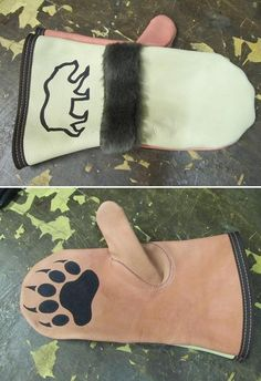 Leather and fur chopper mitts (fingerless gloves) - Alaska Outdoors Forums Gear Drive, Mittens Pattern, Leather Pattern, Little Kittens, Deer Skin, Beading Projects, Leather Gloves, Chopper, Sewing Crafts