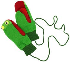 Kidorable Green Dragon Knight Soft Acrylic Mittens for Boys w//Puppet Dragon Mouth