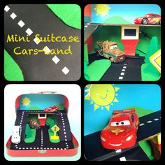 DIY mini Suitcase playset cars toys. Take your racecircuit with u on a hollyday. Play with your cars while traveling.