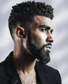 Stylish Fade Curly Haircut Hairstyle For Men