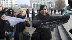 """Lacy knicker ban sparks protests:     Russia, Belarus, Kazakhstan – Protests have broken out over a ban on synthetic lacy lingerie in Russia, Belarus and Kazakhstan.   It outlaws any underwear containing less than six per cent cotton from being imported, made, or sold in the countries.   Police arrested 30 women who were wearing lace underwear on their heads and shouting """"Freedom to panties!"""" during protests in Kazakhstan."""