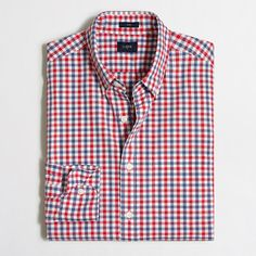 "<ul><li>Cotton.</li><li>Cut 2"" longer through the body and sleeves.</li><li>Slim fit, cut more narrowly through the body and sleeves.</li><li>Button-down collar.</li><li>Machine wash.</li><li>Online exclusive.</li><li>Import.</li></ul>"